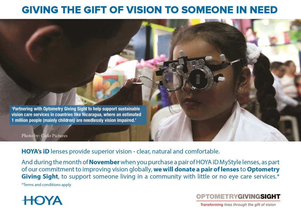 HOYA Vision Care Canada partners with Optometry Giving Sight to support sustainable vision care services