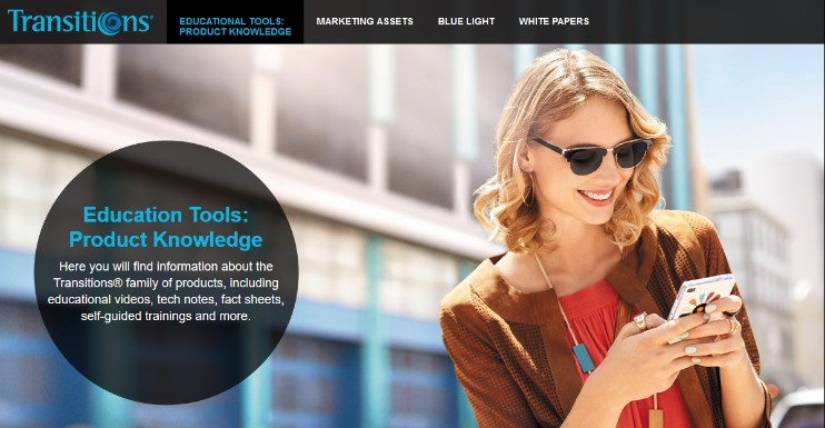 Transitions Optical launches new website
