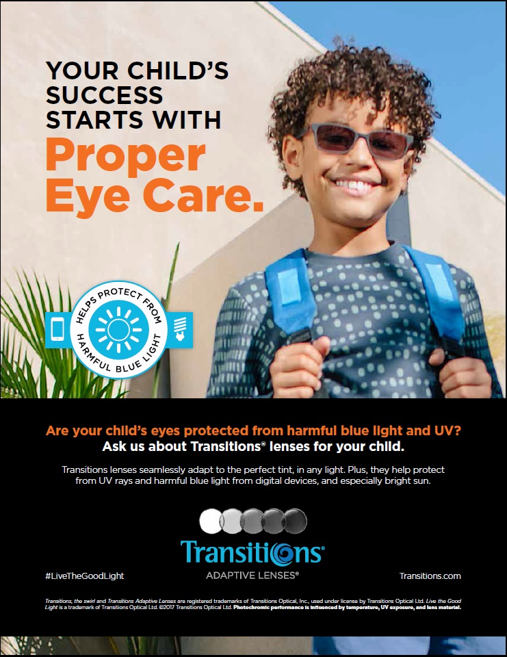 Transitions Optical offers new kids' resources