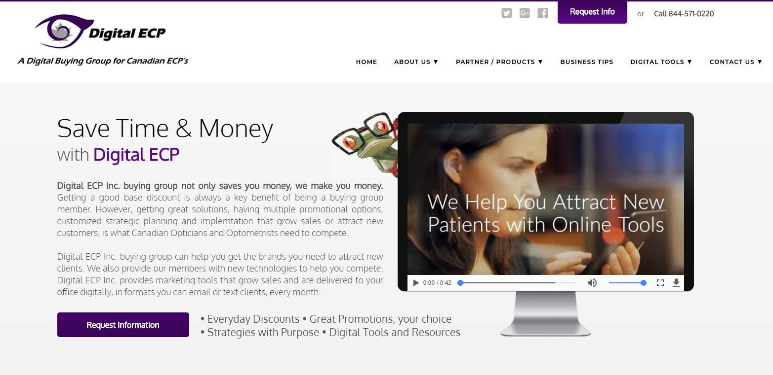 New website for Digital ECP Buying Group