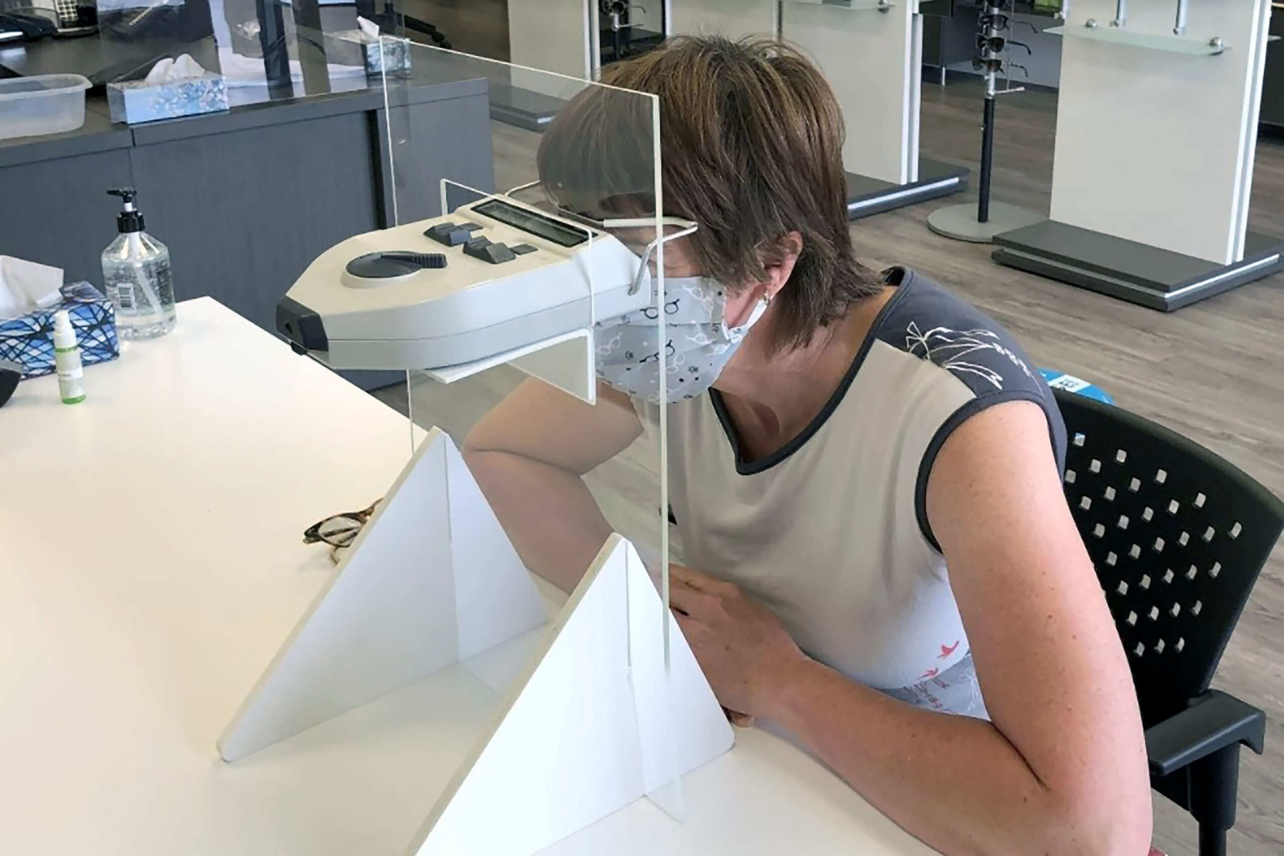 Optician invents PD meter shield