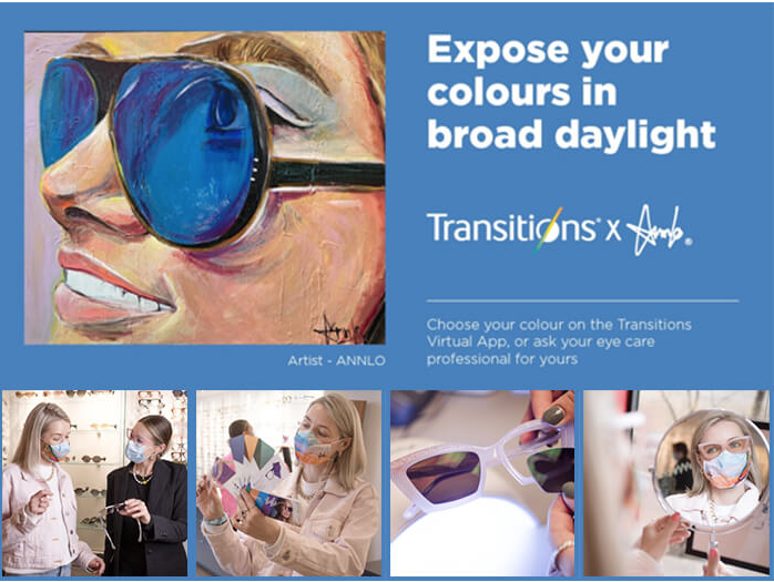 Transitions Optical partners with internationally-recognized Quebec Painter AnnLo